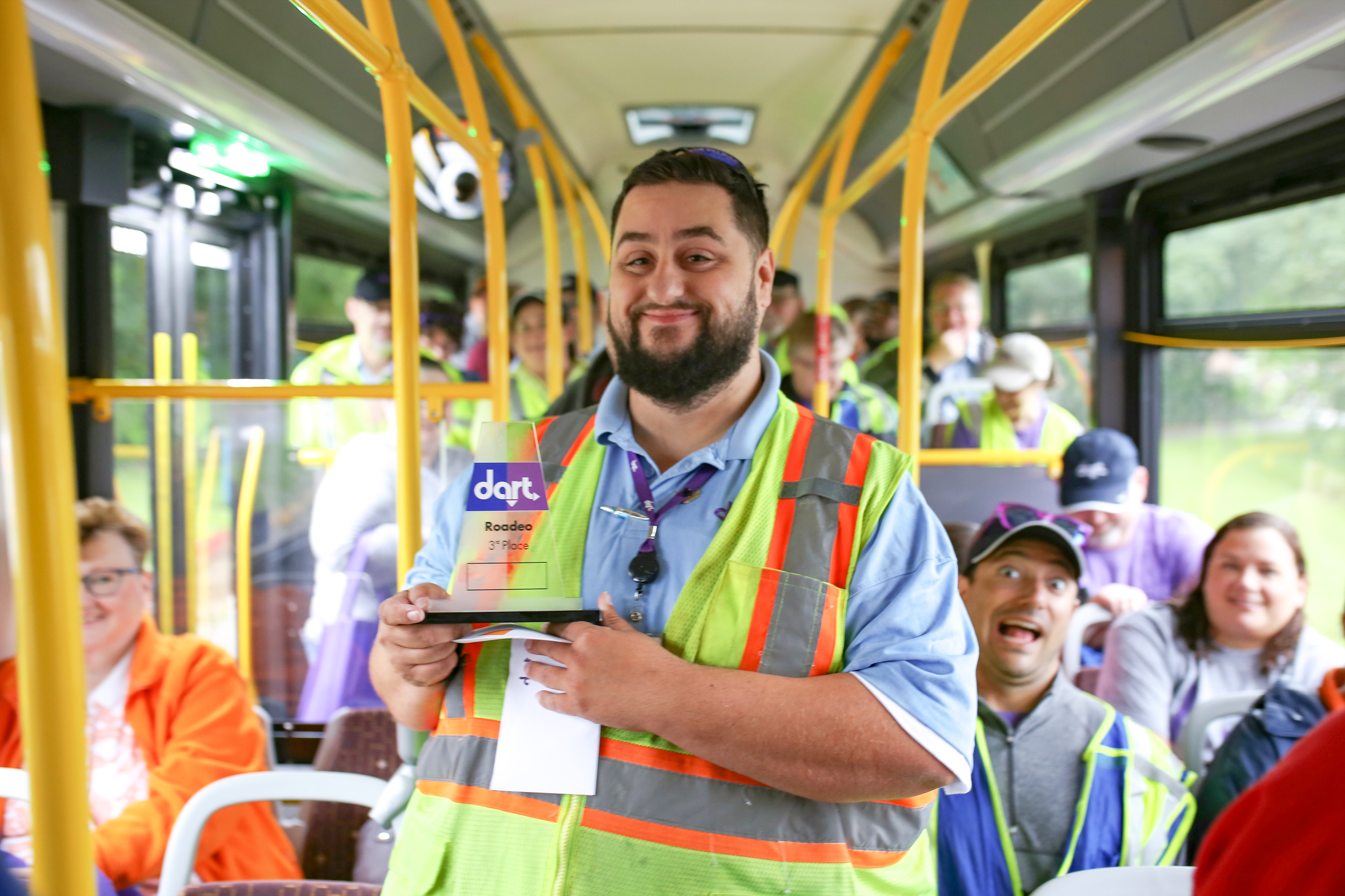 Bus operator winning award for driving skills